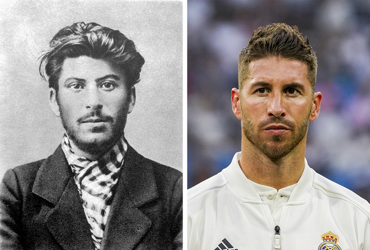 Both Joseph Stalin and Sergio Ramos managed to become leaders