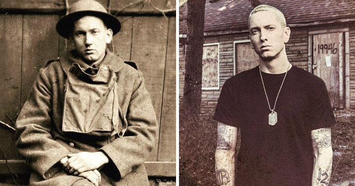 Harold Innis and Eminem Will the real Slim Shady please stand up