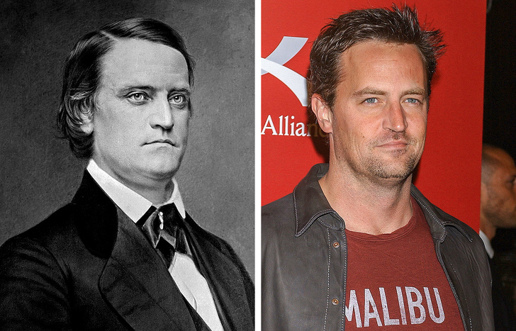 It seems that Friends could've been filmed in the 19th century with John Breckinridge instead of Matthew Perry.