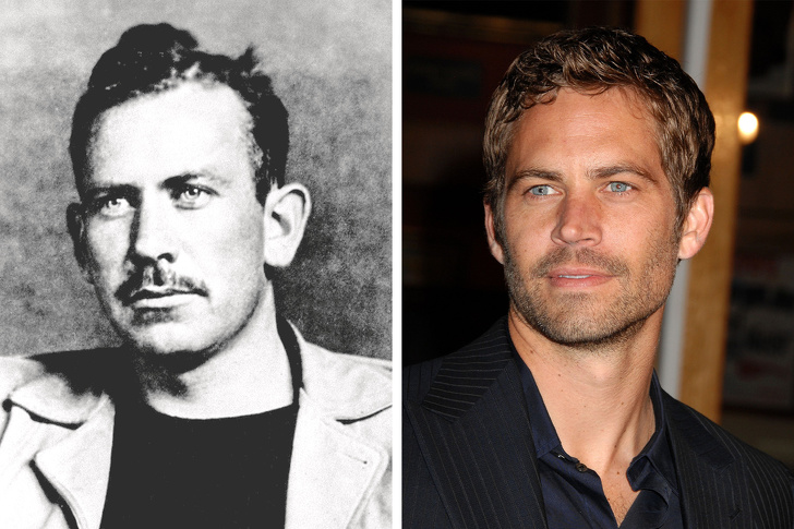 Paul Walker looks like the son of John Steinbeck.