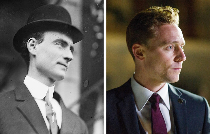 John Mitchel and Tom Hiddleston