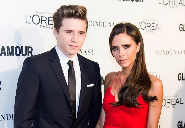 Victoria and Brooklyn Beckham